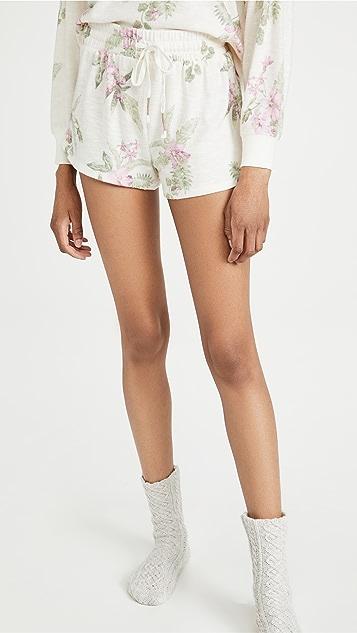 Z Supply Mia 花卉针织短裤