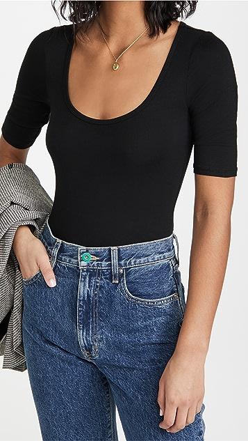 Z Supply Cara Sleek Scoop Thong Bodysuit