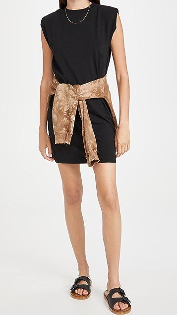 Z Supply Shoulder Pad Tee Dress