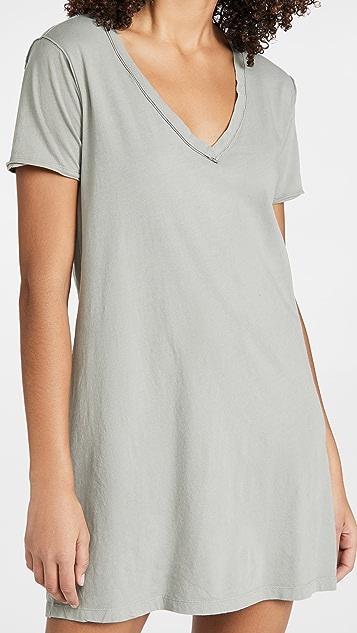 Z Supply 棉质 T 恤连衣裙