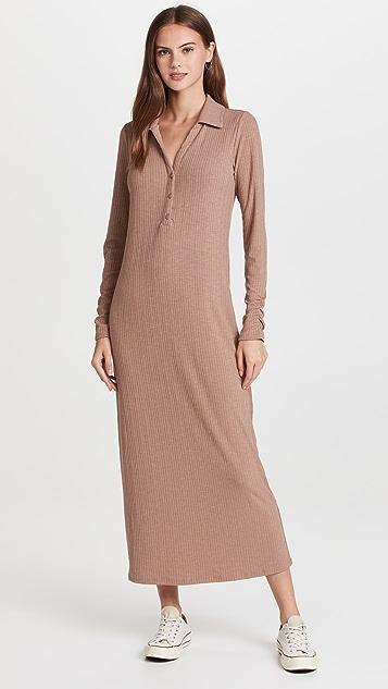 Z Supply Rib Henley Maxi Dress