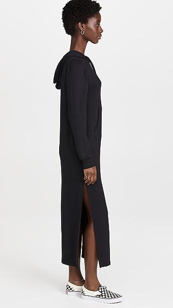 Z Supply Ruffle Hoodie Dress