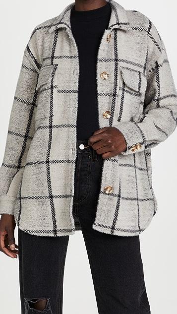 Z Supply Plaid Tucker Jacket