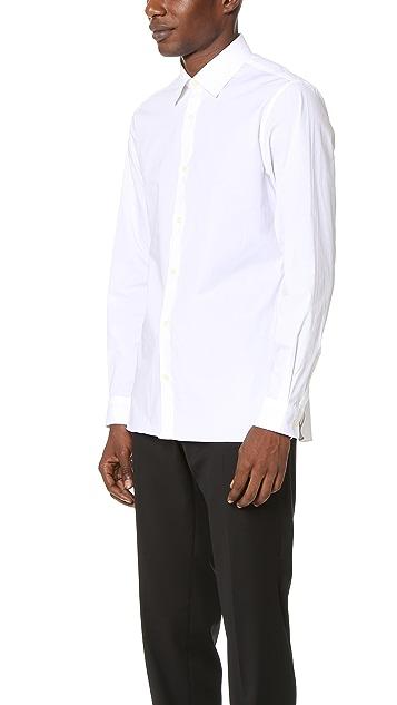 Z Zegna Slim Poplin Shirt