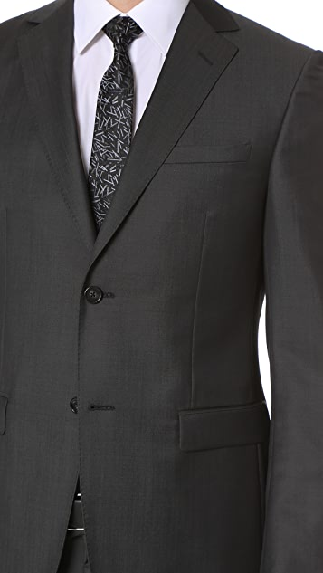 Z Zegna Drop 8 Wool Mohair Blend Suit