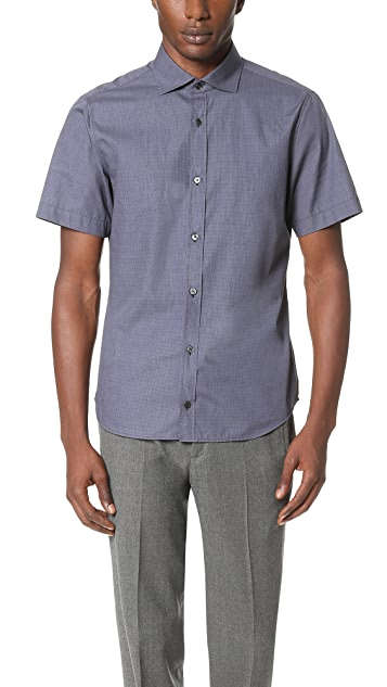 Z Zegna Short Sleeve Slim Fit Shirt