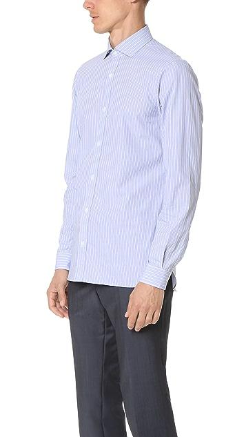 Z Zegna Slim Fit Striped Shirt