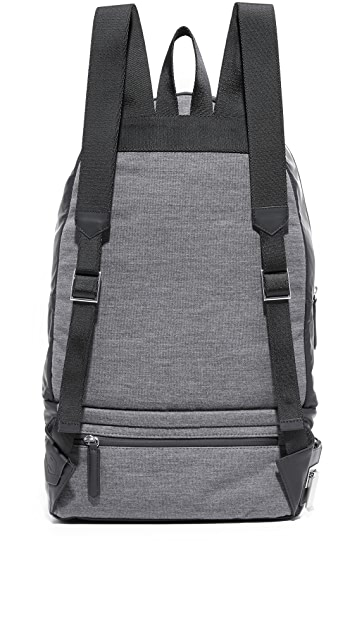 Z Zegna Popeline Leather Backpack