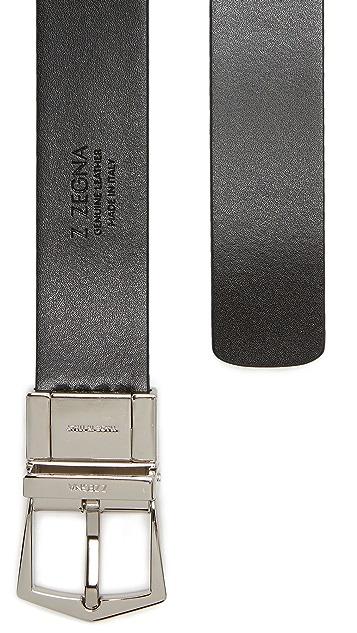 Z Zegna Reversible Adjustable Belt