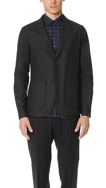 Z Zegna Wool Shirt Cuff Blazer