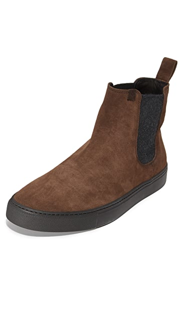 Z Zegna California Suede Pull On Sneakers