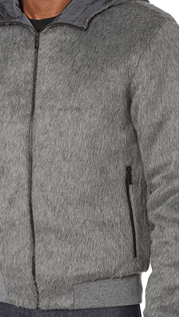 Z Zegna Faux Fur Reversible Hoodie