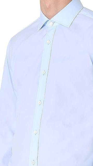 Z Zegna Diego Slim Fit Poplin Shirt