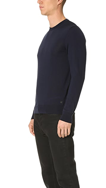 Z Zegna Merino Wool Crew Sweater