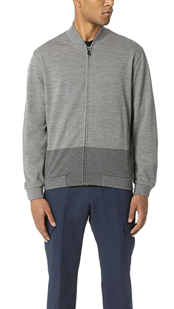 Z Zegna Techmerino Colorblock Zip Up Track Jacket