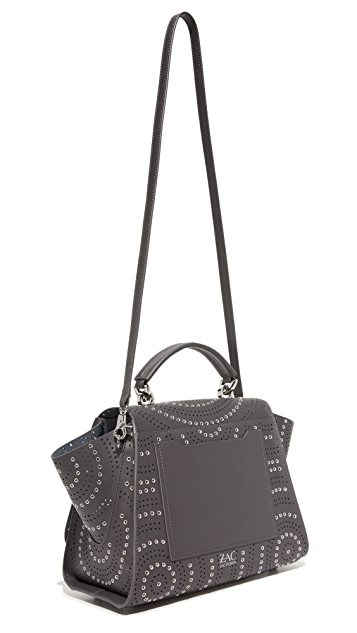 ZAC Zac Posen Eartha Iconic Soft Top Handle Perforation Bag