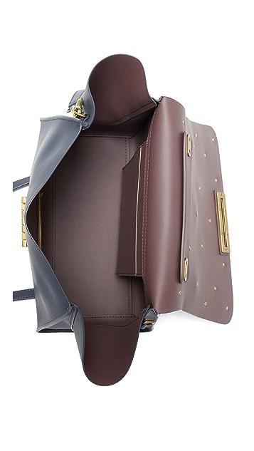 ZAC Zac Posen Мягкая сумка Eartha Iconic с ручкой сверху и цветочными аппликациями
