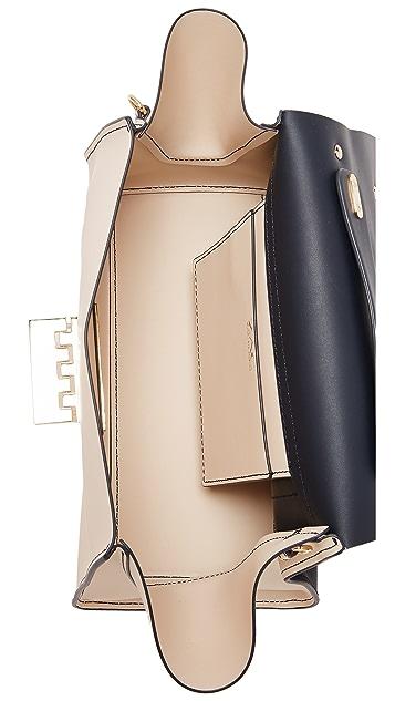 ZAC Zac Posen Мягкая сумка Eartha с ручкой сверху и цветочным рисунком