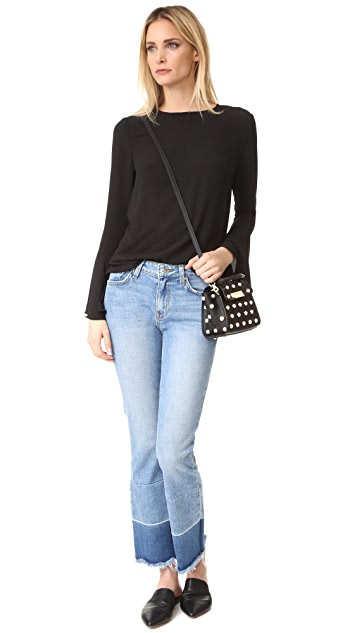 ZAC Zac Posen Eartha Imitation Pearl Top Handle Mini Cross Body Bag