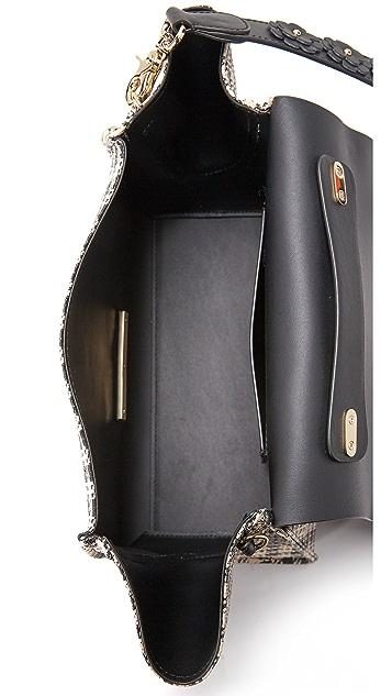 ZAC Zac Posen Мягкая сумка из соломки Eartha в клетку гингем с ручкой сверху