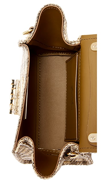 ZAC Zac Posen Миниатюрная сумка из соломки Eartha в клетку гингем с ручкой сверху