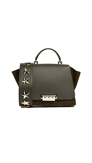 ZAC Zac Posen Nubuck Eartha Bag with Star Studded Strap