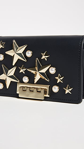 ZAC Zac Posen Star Stud Earthette Accordion Shoulder Bag
