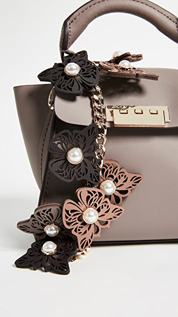ZAC Zac Posen Butterfly Applique Eartha Mini Top Handle Bag