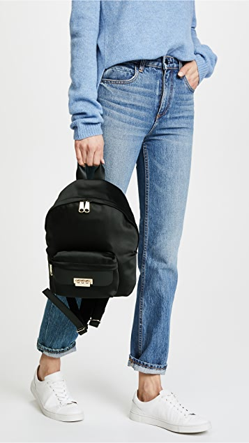 ZAC Zac Posen Satin Eartha Small Backpack