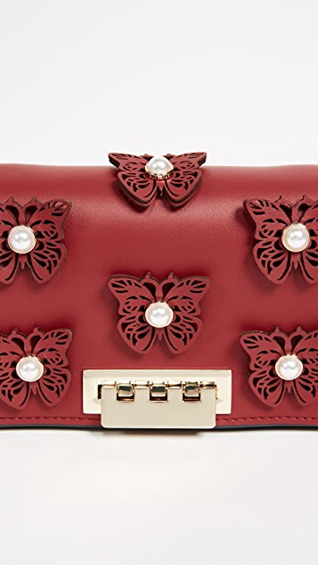 ZAC Zac Posen Butterfly Applique Earthette Accordion Shoulder Bag