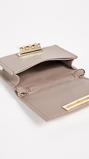 ZAC Zac Posen Pearl Lady Earthette Card Case with Chain