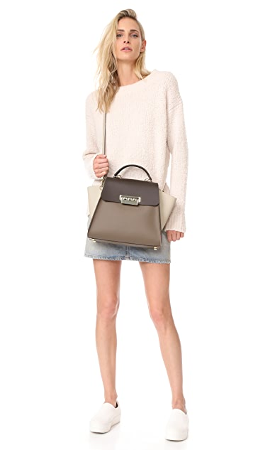 Zac Zac Posen Colorblock Eartha Iconic Top Handle Bag