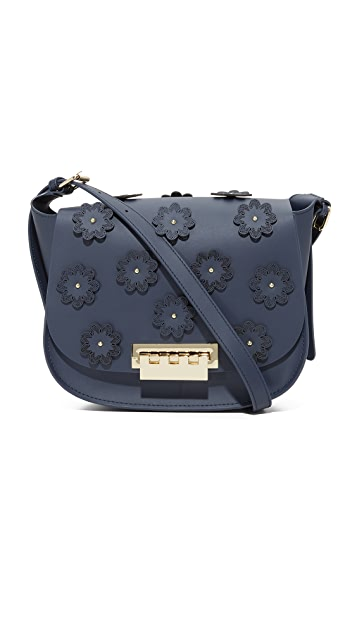 ZAC Zac Posen Floral Applique Eartha Iconic Saddle Bag