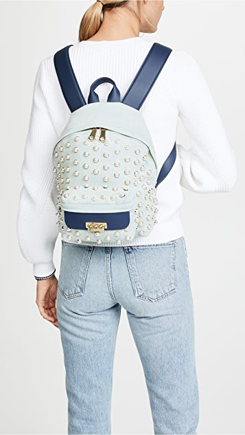 ZAC Zac Posen Eartha Iconic Small Denim Backpack