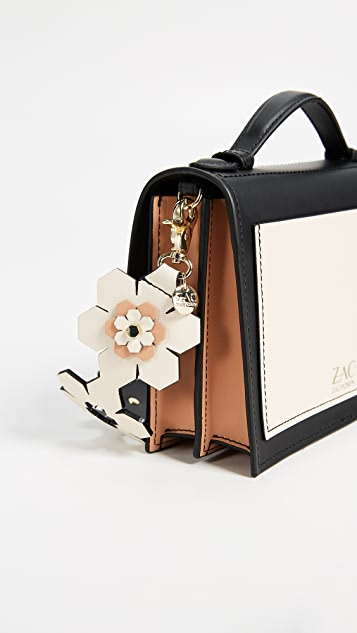 ZAC Zac Posen Eartha Iconic Hex Floral Accordion Shoulder Bag