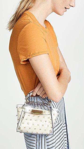 ZAC Zac Posen Миниатюрная сумка Eartha Lady с ручкой сверху и кристаллами