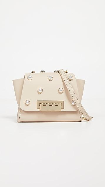 ZAC Zac Posen Eartha Imitation Pearl Mini Chain Cross Body Bag - Sand Dollar