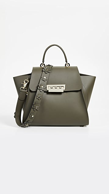 ZAC Zac Posen Eartha Top Handle Bag with Floral Strap