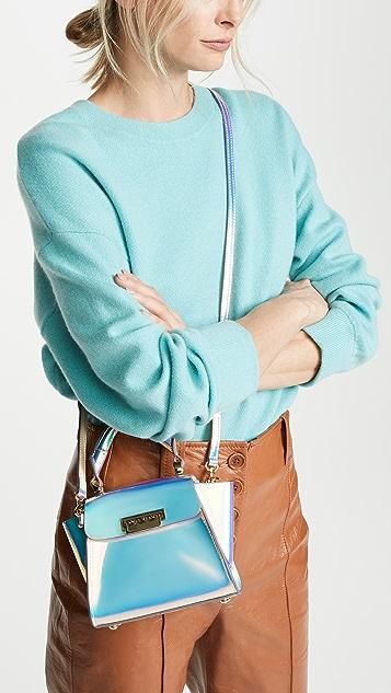 ZAC Zac Posen Eartha Iridescent Mini Top Handle Bag