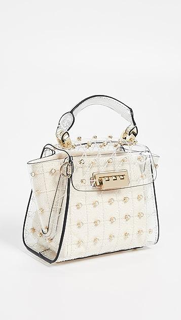 61eb4ff16e40 ZAC Zac Posen Eartha Quilted Pearl Lady Mini Top Handle Bag ...