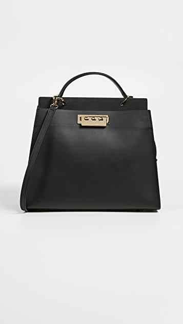 ZAC Zac Posen Earthette Double Compartment Satchel