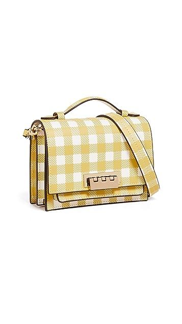 ZAC Zac Posen Миниатюрная сумка через плечо Earthette с внутренним отделением гармошкой и рисунком в клетку гингем