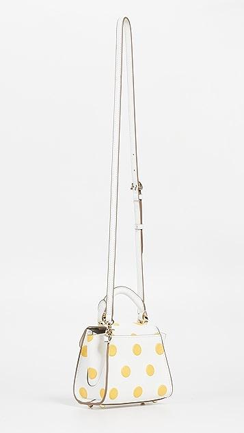 ZAC Zac Posen Миниатюрная сумка Eartha в горошек с ручкой сверху и ремешком через плечо