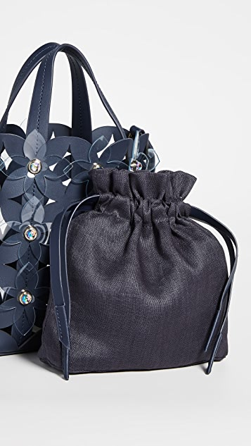 ZAC Zac Posen Маленькая сумка-шоппер Floral Bouquet North/South
