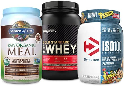 Up to 35% off protein powder from Garden of Life, Dymatize and more