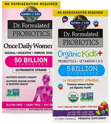 Up to 30% off Garden of Life probiotics and other supplements