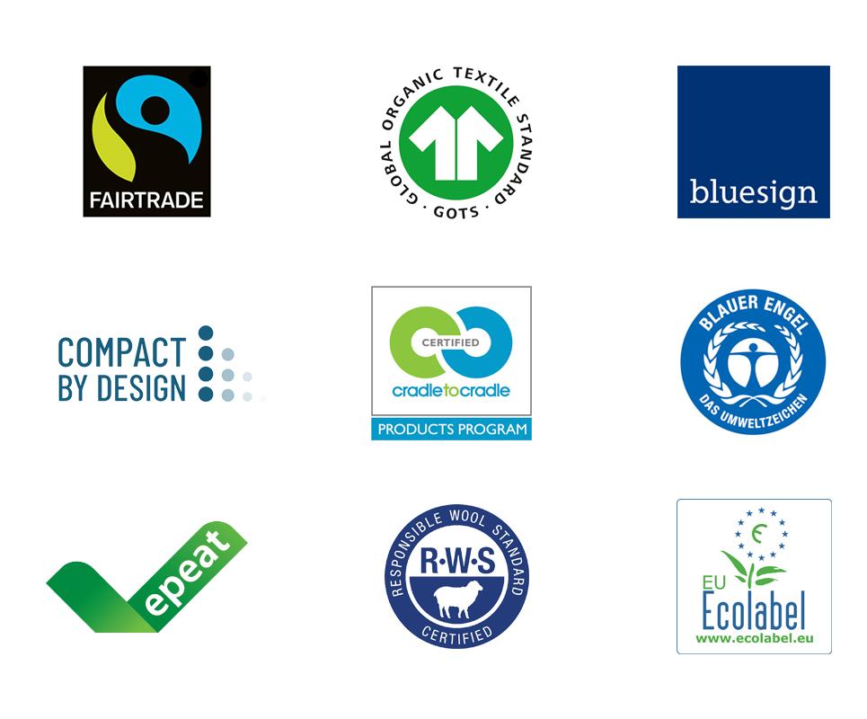 Climate Pledge Friendly: Ein Auszug der Zertifizierungen mit denen Amazon arbeitet