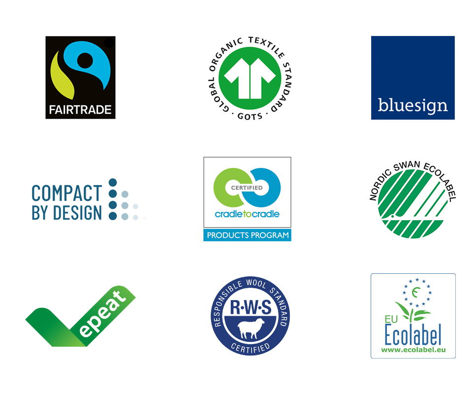 Logos of featured Climate Pledge Friendly Certfications