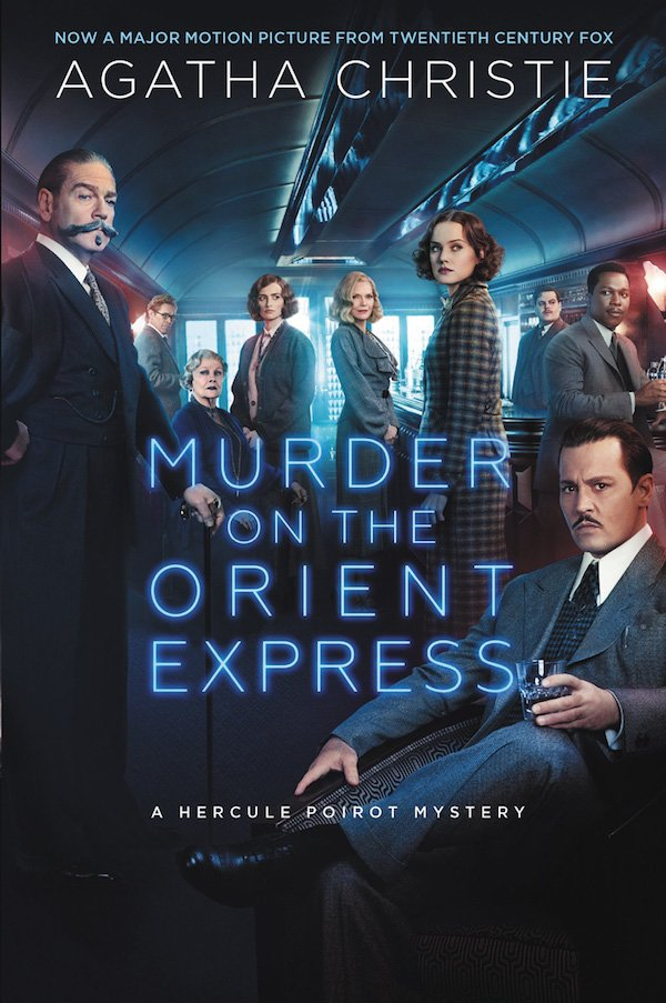 The cover of Murder on the Orient Express: A Hercule Poirot Mystery by Agatha Christie. Click for more details.