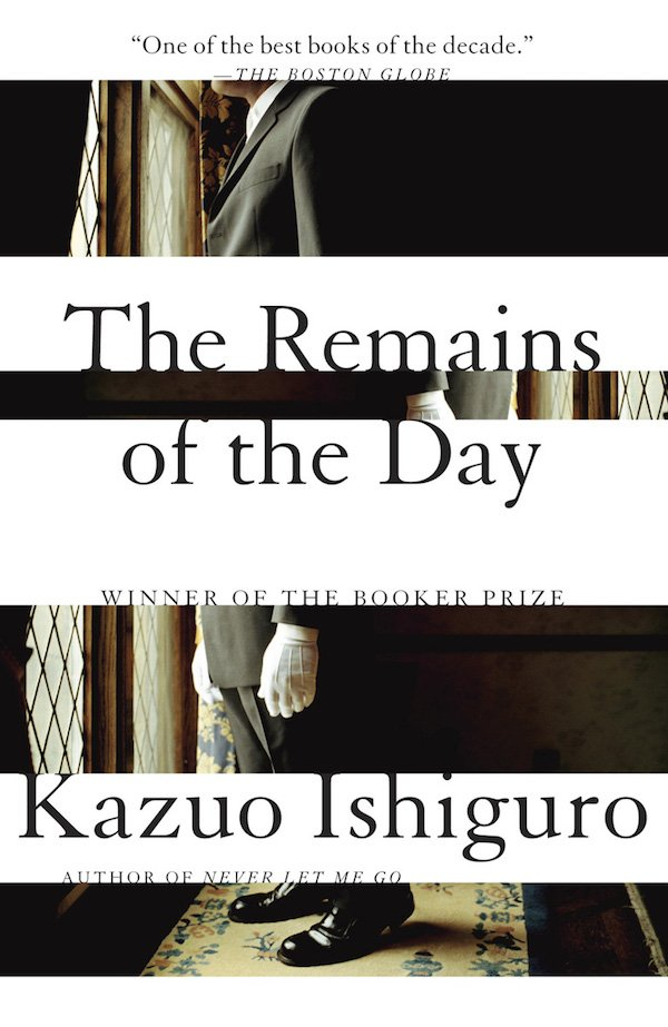 The cover of The Remains of the Day by Kazuo Ishiguro. Click for more details.